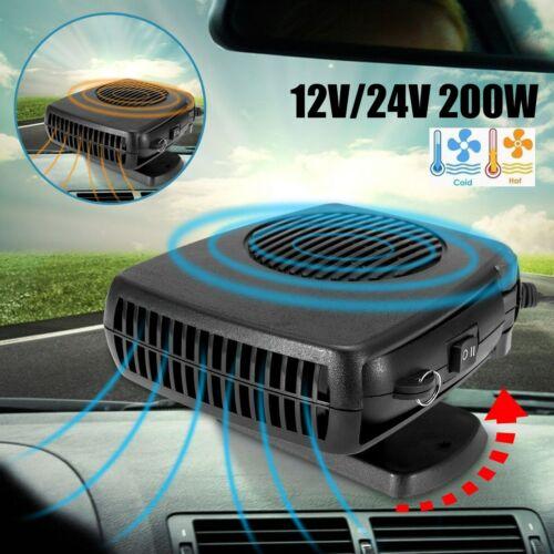 DC 150W 24V Car Portable Heater Fan 2in1 Defroster Demister Cooler Dryer UK