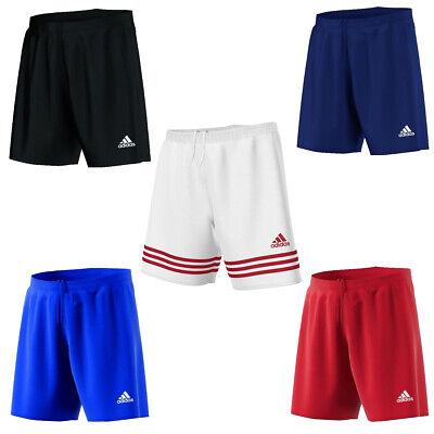Mens Original Adidas Shorts Entrada 3 Strips Summer Gym Fitness Football Workout