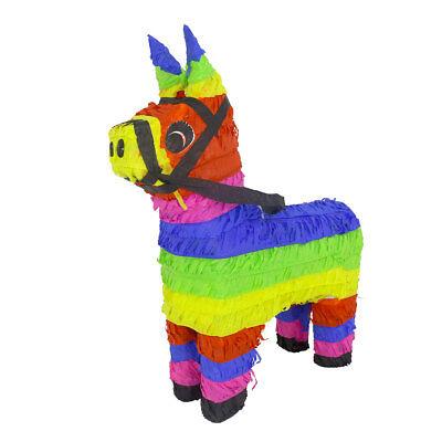 Classic Traditional Hand Made In Mexico Latin Party Rainbow Color Donkey Pinata (Pinata Donkey)