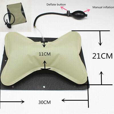 1X Car Seat Embedded Lumbar Airbag Comfortable Hand Pump Support Cushion Pillow