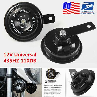 2Pcs 12V 435HZ 110dB Motorcycle Loud Tone Snail Horn Loudspeaker Waterproof -USA
