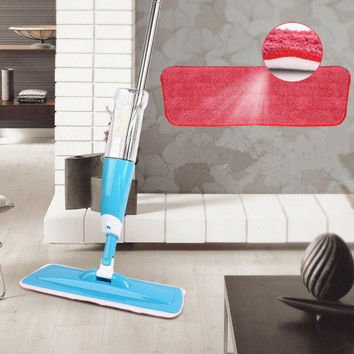 Water Spray Household Flat Mop Floor Cleaner 360 Spin Head w
