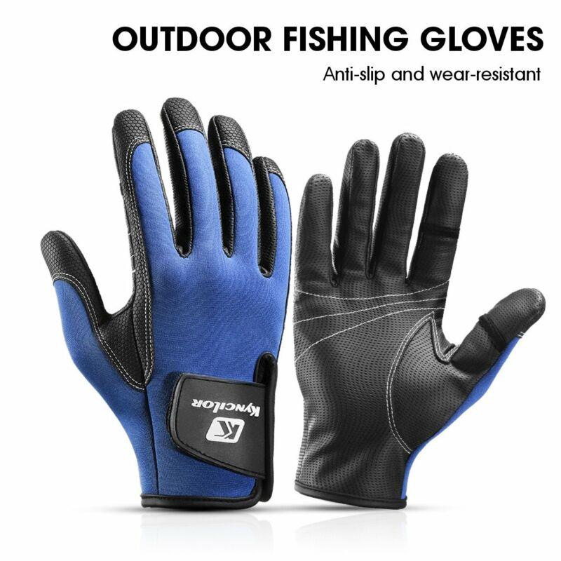 Waterproof Fishing Gloves for Men Women - Protective, 2-Cut Fingers, Anti-slip