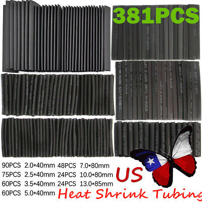 381pcs Heat Shrink Wire Wrap Assortment Set Tubing Electrical Connection Cable
