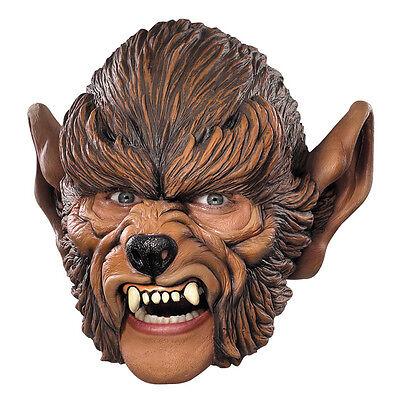 Werewolf Chinstrap Vinyl Adult Costume Mask Disguise 10392