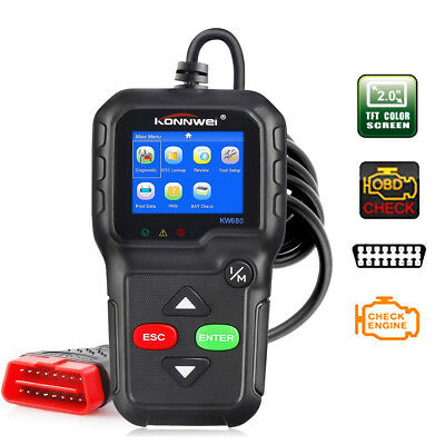KW680 Auto OBD2 OBDII Scanner Car Code Reader Diagnostic Engine Fault Scan Tool