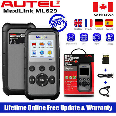 Autel ML629 OBD2 II Scanner Engine ABS SRS Airbag AT Gearbox Car Diagnostic Tool