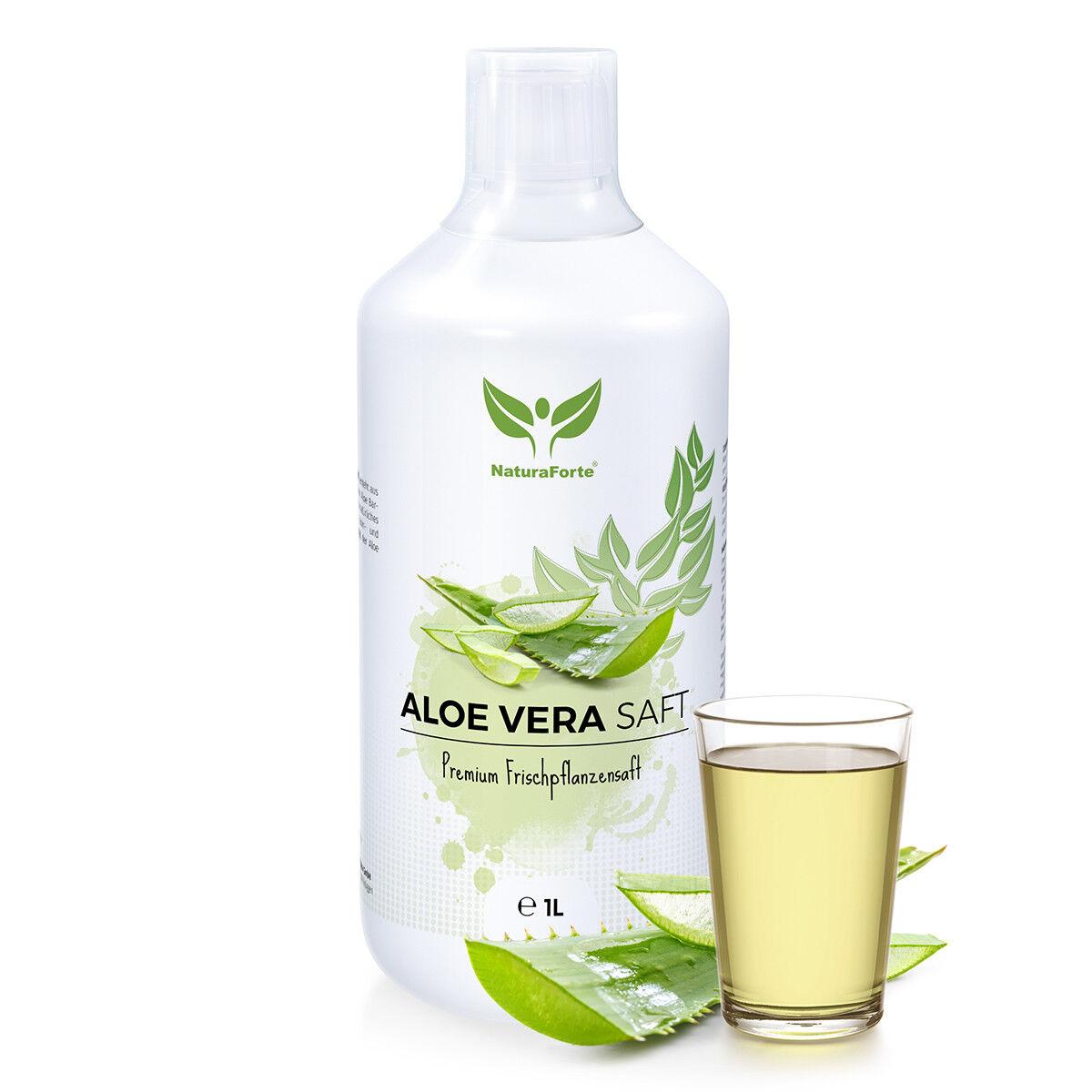 Aloe Vera Saft natur 99,7% AloeVera Direktsaft unverdünnt 1L NaturaForte® vegan