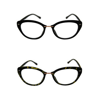Vintage 50s/60s Stil Klarglas Katzenauge Retro Rockabilly Brille Kostüm