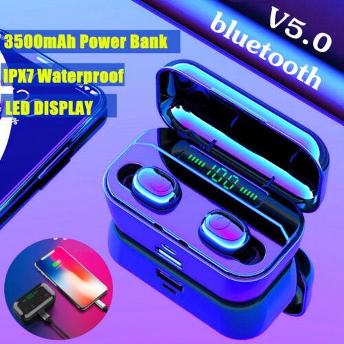 3500Mah LCD TWS Wireless Headphones Bluetooths 8D Stereo Ear
