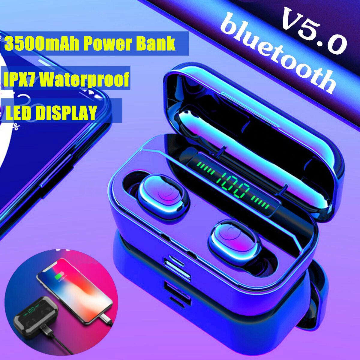 3500mAh LCD TWS Drahtlose Kopfhörer Bluetooth Stereo-Ohrhörer In-Ear-Headset DE