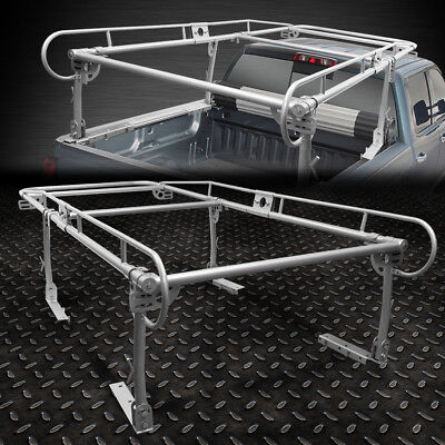 """132""""X 57"""" UNIVERSAL PICKUP TRUCK TRUNK BED OVER CAB UTILITY LADDER RACK SILVER"""