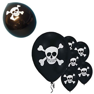 10*Black Skull Pirate Themed Party Latex Balloons- Good For Kids Pirate Fancy Pa