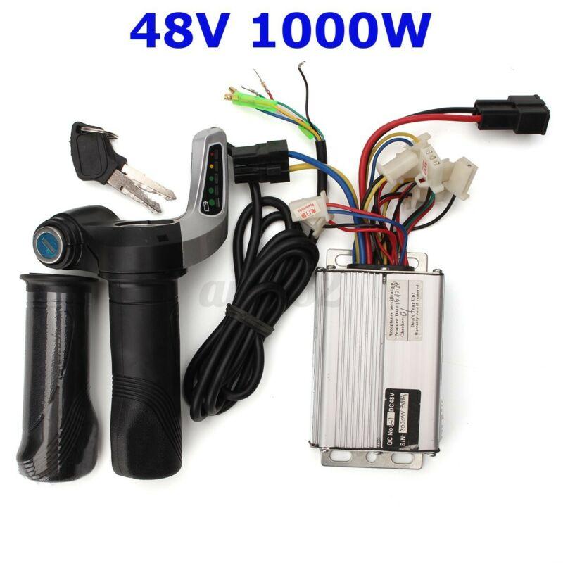 48V 1000W Electric Brush Motor Speed Controller Throttle Grip Scooter ATV E Bike