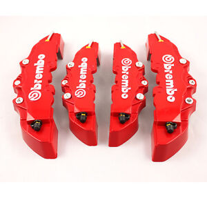 Red-ABS-4pcs-Front-Rear-Disc-Brake-Caliper-Cover-Brembo-Universal