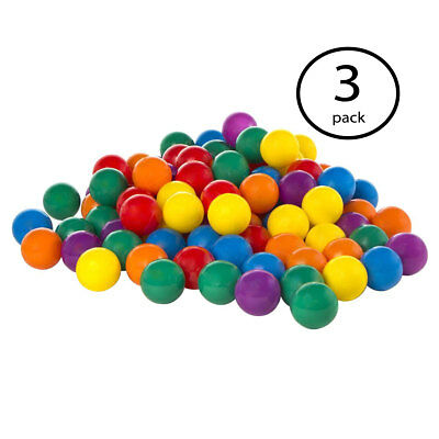100 Pack Intex Small Plastic Multi-Colored Fun Ballz For A Ball Pit (3 Pack) - Small Ball Pit