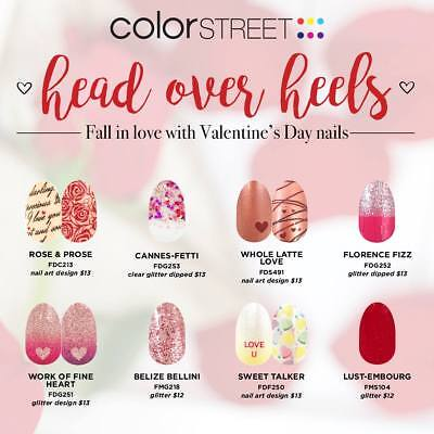 NIP Color Street Nail Polish Strips..AND BRAND NEW VALENTINES! CHOOSE Your Favs!](Valentines Coloring)
