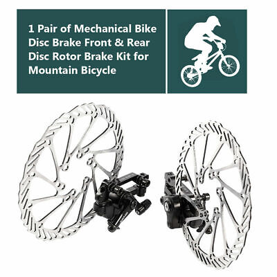 Mountain Bike Road Bicycle 160mm Rotors Front Rear Disc Brake Caliper Set -