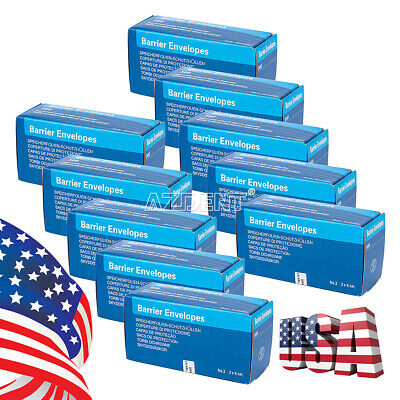 Us 10packs Size 2 Barrier Envelopes For Dental X Ray Scanx Phosphor Plate Sensor