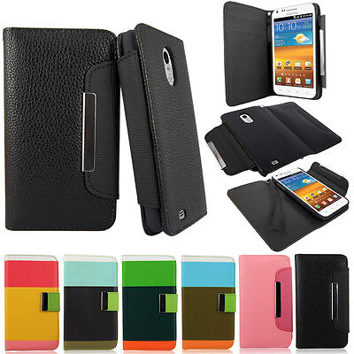 Samsung Galaxy S2 Epic 4G Touch D710 Sprint PU Leather Wallet Flip Case Pouch  on Rummage