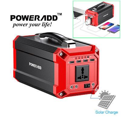 Poweradd Portable 73000mAh Solar Power Inverter Generator Supply Energy Storage