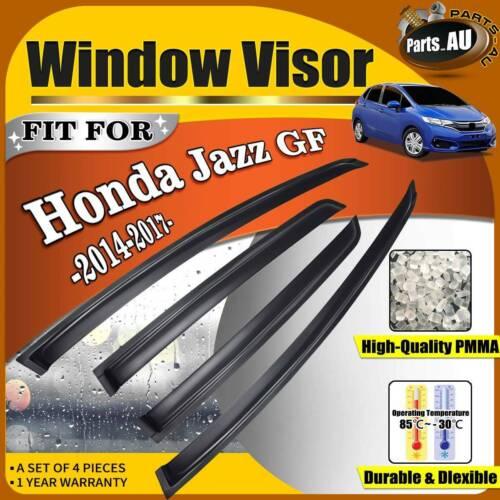 set   weather shield weathershield window visors  honda jazz gf   ebay