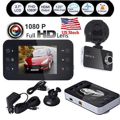 "2.7"" LCD Full HD 1080P Car DVR Vehicle Camera Video Recorder Dash Cam G-Sensor"