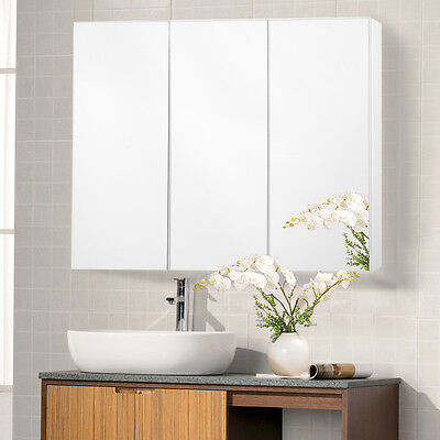 "36"" Wide Wall Mount Mirrored Bathroom Medicine Cabinet Storage 3 Mirror Door New"