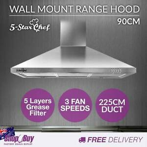 Free Delivery: 90CM Stainless Steel Rangehood Commercial Home ki Homebush Strathfield Area Preview
