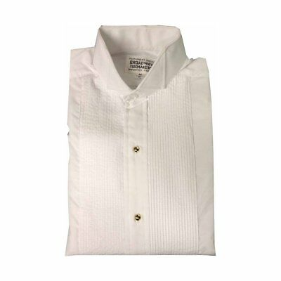 Boys White Tuxedo Shirt with Wing Collar and 1/4