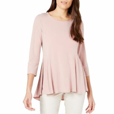 ALFANI NEW Women's Hi-low Flared Peplum Blouse Shirt Top TEDO