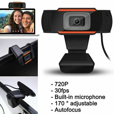 USB 2.0 HD Webcam Camera Autofocus Video Cam for Computer PC Laptop Microphone