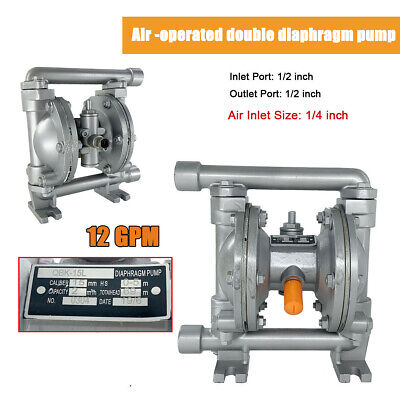 Air-operated Double Diaphragm Pump 12gpm 115psi 12 Inletoutlet Aluminum Alloy