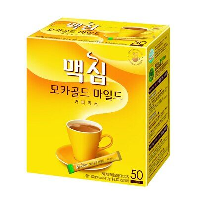 Maxim Mocha Gold Mild Korean Instant Coffee Mix 50 Sticks
