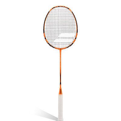 BABOLAT S-700 orange Badmintonschläger mit Besaitung, 3/4 Hülle -NEU-