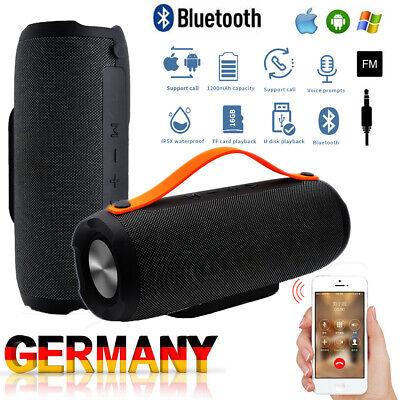 Tragbarer Wireless Bluetooth Lautsprecher Stereo Subwoofer Musikbox Wasserdicht