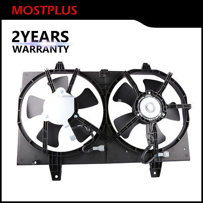 1X Radiator Dual Cooling Fan Assembly For 00-01 Nissan Maxima Infiniti I30 3.0L - Maxima Radiator Cooling Fan Assembly