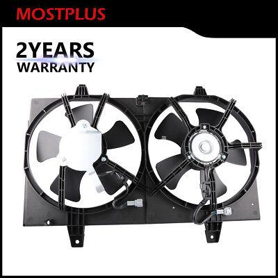 1X Radiator Dual Cooling Fan Assembly For 00-01 Nissan Maxima Infiniti I30 3.0L ()