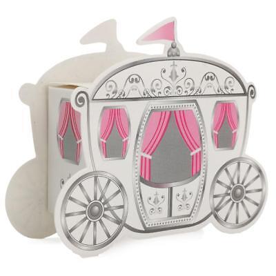 12pk Pink Carriage Wedding Sweet 16 Quinceanera Party Favor Keepsakes