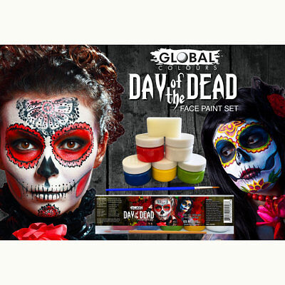 Day of the Dead Face Paint Set Halloween Special FX Sugar Skull face make-up - Sugar Skull Halloween Face Paint