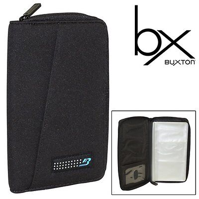 Business Card File Neoprene Water-resistant Cover Zip Holds 96 Cards