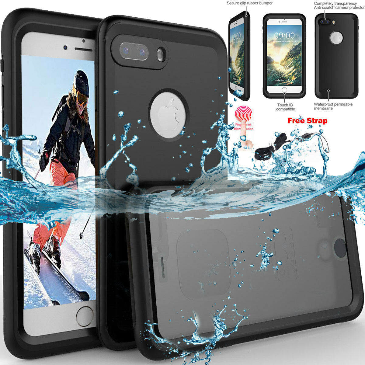 Slim Waterproof Shockproof Heavy Duty Hard Case Cover for iP