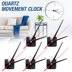 5x Balck&Red Hand Quartz Wall Clock Silent Spindle Movement Mechanism Part Tool