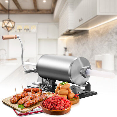4.8l Sausage Stuffer Maker Meat Filler Machine Stainless Steel Commercial New