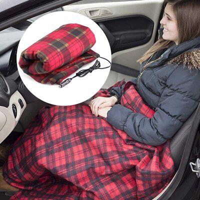 12v Car Heating Blanket Lattice Heated Travel Blanket Autumn Winter Car Electric