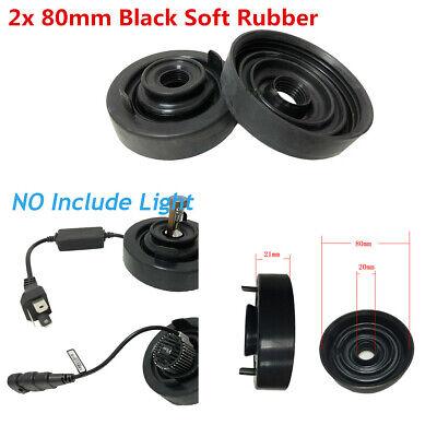 2x 80mm Black Soft Rubber Car LED Headlight Housing Extended Seal Cap Dust Cover