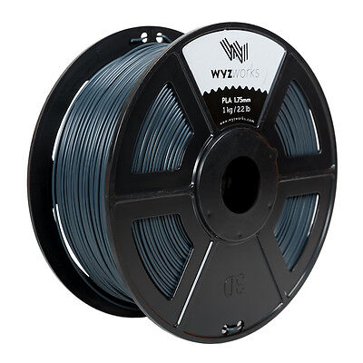 Wyzwork 3d Printer Premium Pla Filament 1.75mm 1kg2.2lb - Blue Grey