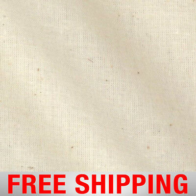 "Muslin Fabric – Natural, Unbleached - 100% Cotton – 60"" Wide – Free Shipping!!"