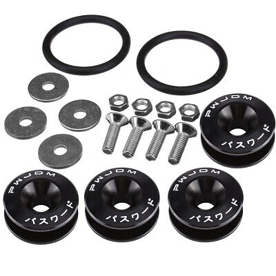 Black Quick Release Fasteners Fastener for Car Bumper Trunk Fender Hatch Lid Kit