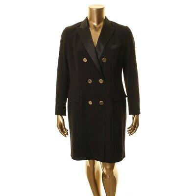 ANNE KLEIN NEW Women's Satin Trim Double Breasted Tuxedo Dress TEDO